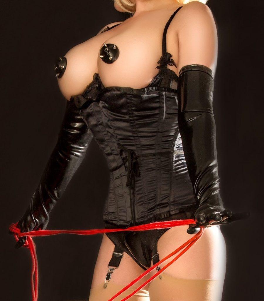 Lady Nadine SIXX schwarze Corsage
